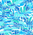 Blue abstract surf pattern in a seamless pattern vector image vector image