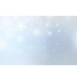blue background with snowflakes stars and lights vector image vector image