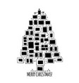 christmas tree made from photo frames greeting vector image vector image