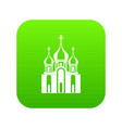 church building icon digital green vector image