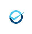 circle round check logo icon badges vector image vector image
