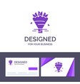 creative business card and logo template beauty vector image
