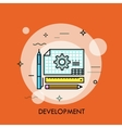 Development icon from Business Bicolor Set This vector image vector image
