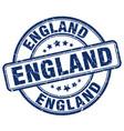 england blue grunge round vintage rubber stamp vector image vector image