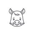 funny boar line icon concept funny boar vector image vector image