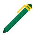green ballpoint pen icon flat isolated vector image vector image