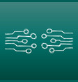 hand drawn circuit board icon doodle scetch vector image