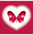 heart butterfly design vector image
