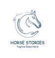 horse head and hand abstract design vector image vector image