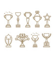 icons awards cups set vector image