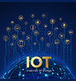 iot concept internet things global network vector image vector image