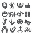 joy icons set on white background vector image vector image