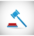 Judgment Verdict Symbol Judge Gavel Icon Template vector image vector image