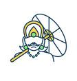 kathakali celebration rgb color icon vector image