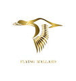 logo mallard that is flying eps 10 vector image vector image
