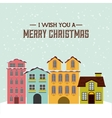 merry christmas cityscape holiday december vector image