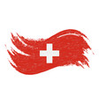 national flag of switzerland designed using brush vector image