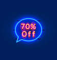 neon chat frame 70 off text banner night sign vector image vector image
