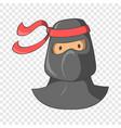 ninja mascot icon cartoon style vector image