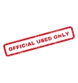 Official Used Only Rubber Stamp vector image vector image
