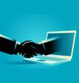online business deals vector image vector image