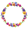 pansy wreath round vector image vector image