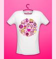 pink ribbon awareness month charity vector image