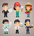 professions set1 4 vector image vector image