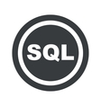 Round black SQL sign vector image vector image