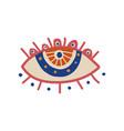 sacred seeing eye boho style design element vector image vector image