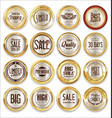 sale retro vintage golden badges and labels 04 vector image vector image