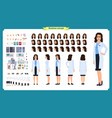 scientist character creation set woman worker vector image vector image