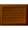 seamless chocolate bar vector image vector image