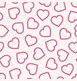 seamless pattern with hearts repeatable vector image