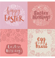 set easter square cards banners hand vector image