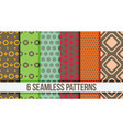 six seamless geometric patterns vector image