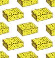 Sketch sponge in vintage style vector image vector image