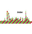 skyline of dubai vector image