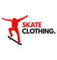 sport skate clothing human skate background vector image vector image
