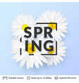 spring season flowers and text vector image vector image