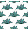 stylized plants in cartoon style seamless vector image vector image