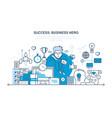 success work communication partners leadership vector image