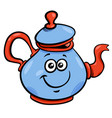 teapot or kettle cartoon character vector image vector image