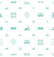 traffic icons pattern seamless white background vector image vector image