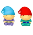 Two Cute Small Dwarf vector image