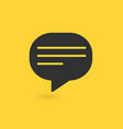 typing in a chat bubble icon isolated comment vector image vector image