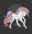 unicorn full color vector image vector image