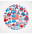 US elections icons circle vector image vector image