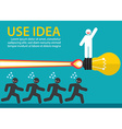 Use creative idea vector image