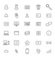 user interface line icons vector image vector image
